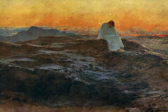 'Christ in the Wilderness', 1898, (1912).Artist: Briton Riviere